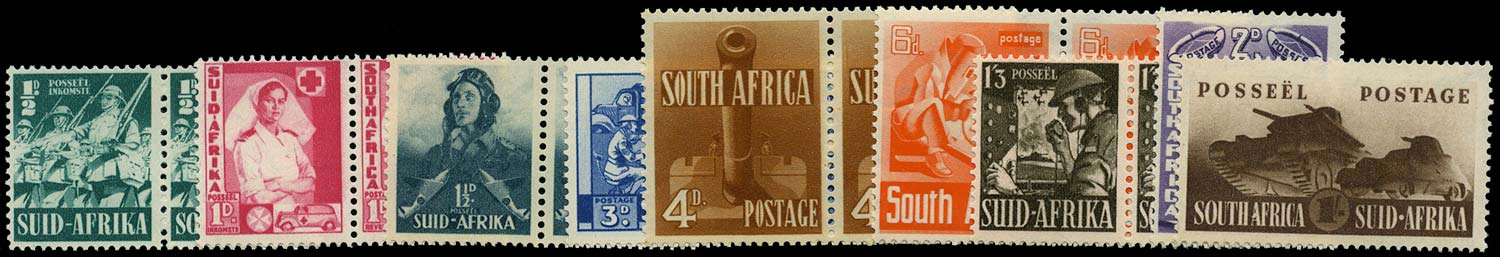 SOUTH AFRICA 1941  SG88/96 Mint War Effort set of 7 to 1s3d unmounted
