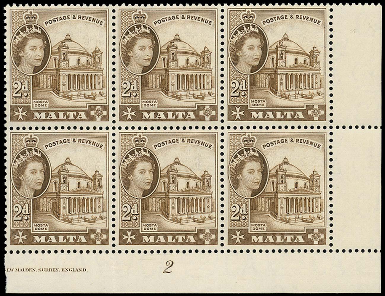 MALTA 1958  SG270a Mint