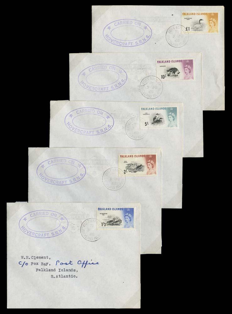 FALKLAND ISLANDS 1968  SG193/207 Cover