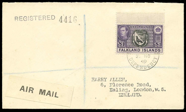 FALKLAND ISLAND DEPS 1949  SGZ88 Cover