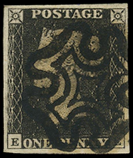 GB 1840  SG2 Pl.10 Penny Black