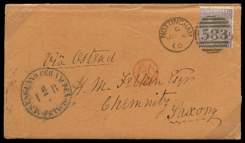 GB 1866  SG97 Pl.5 Cover