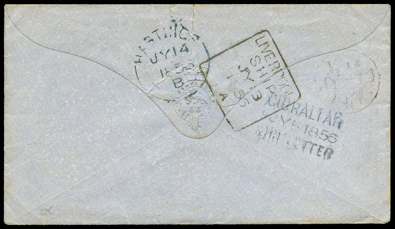 GIBRALTAR 1856 Cover