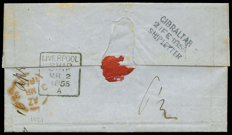 GIBRALTAR 1855 Cover