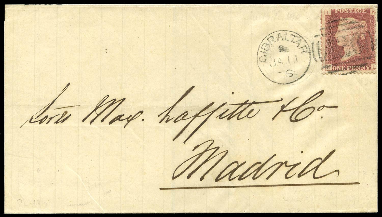 GIBRALTAR 1878  SGZ19 pl.190 Cover