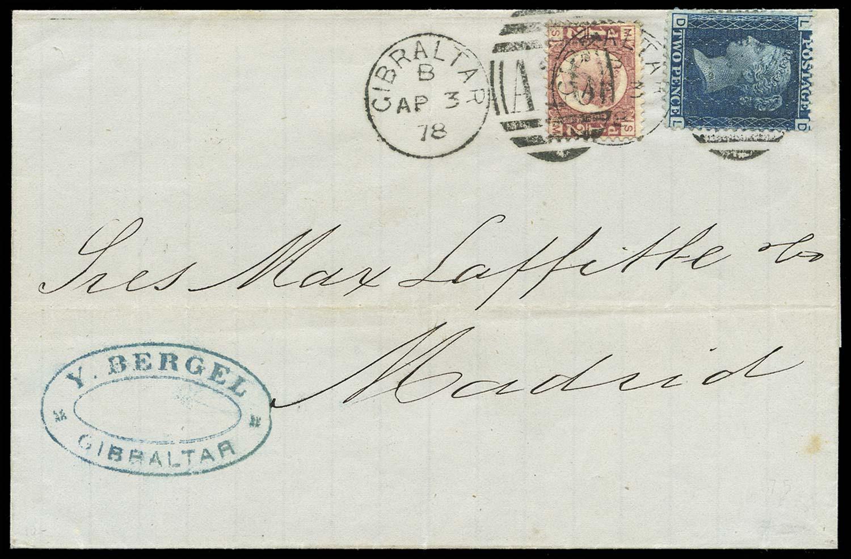 GIBRALTAR 1878  SGZ15, 22 Cover
