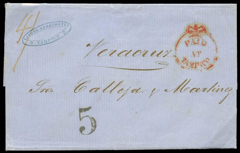 GB 1856  SGCC1 Cover - Tampico Crowned Circle
