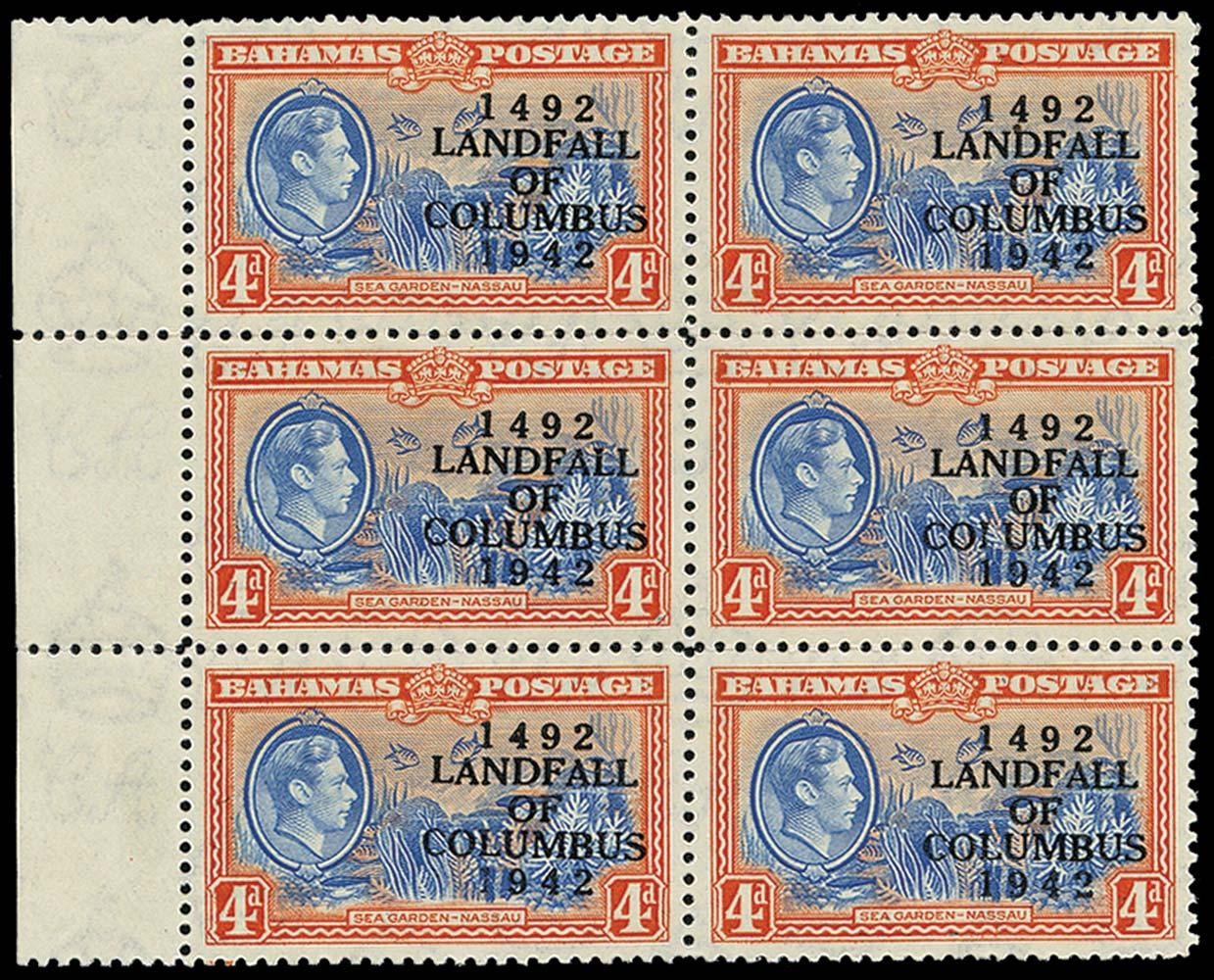 BAHAMAS 1942  SG168/a Mint