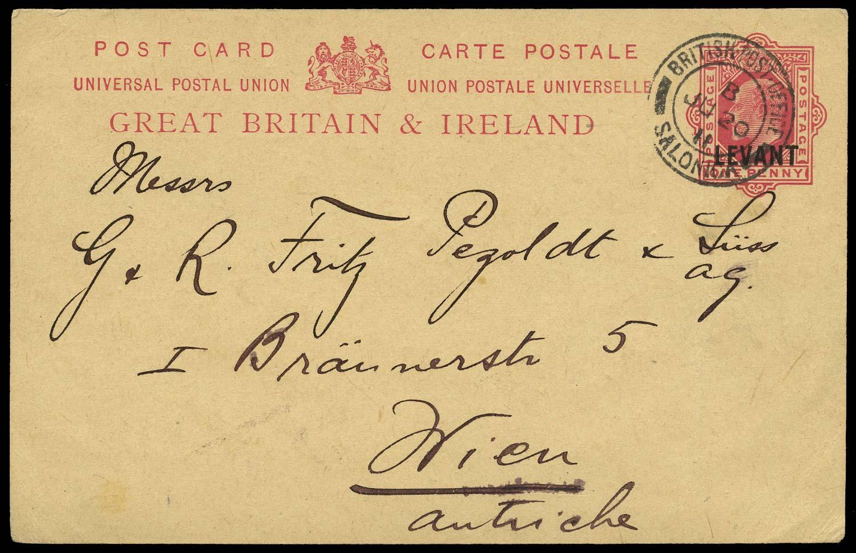 BRITISH LEVANT 1911 Cover