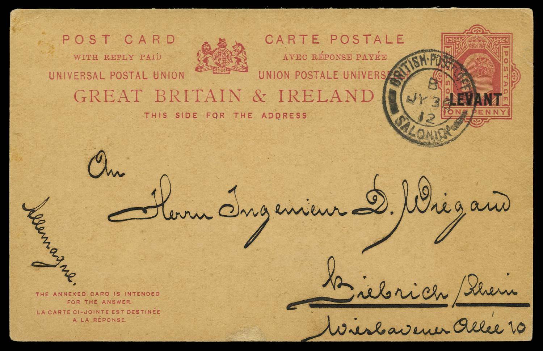 BRITISH LEVANT 1912 Cover