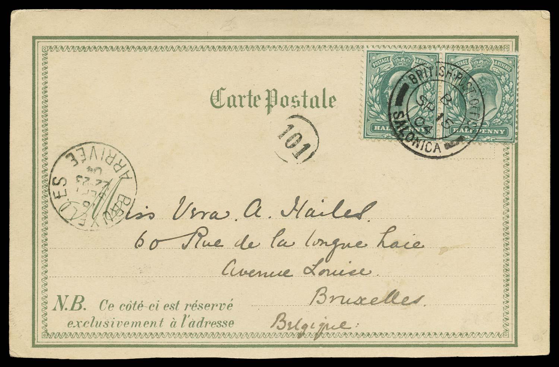 BRITISH LEVANT 1904  SGZ208 Cover
