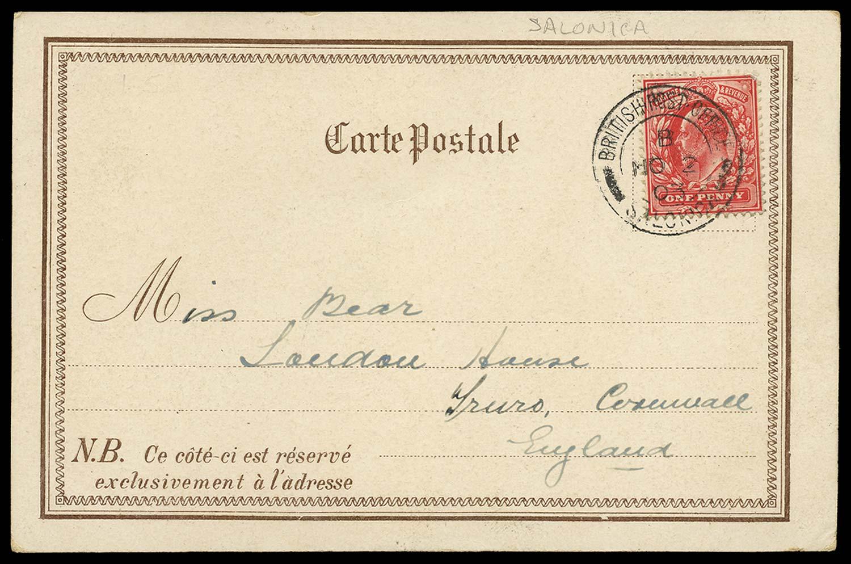 BRITISH LEVANT 1903  SGZ209a Cover