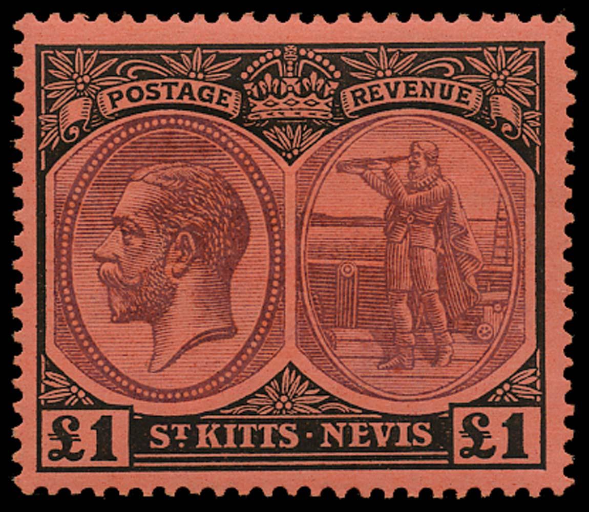 ST KITTS NEVIS 1920  SG36 Mint
