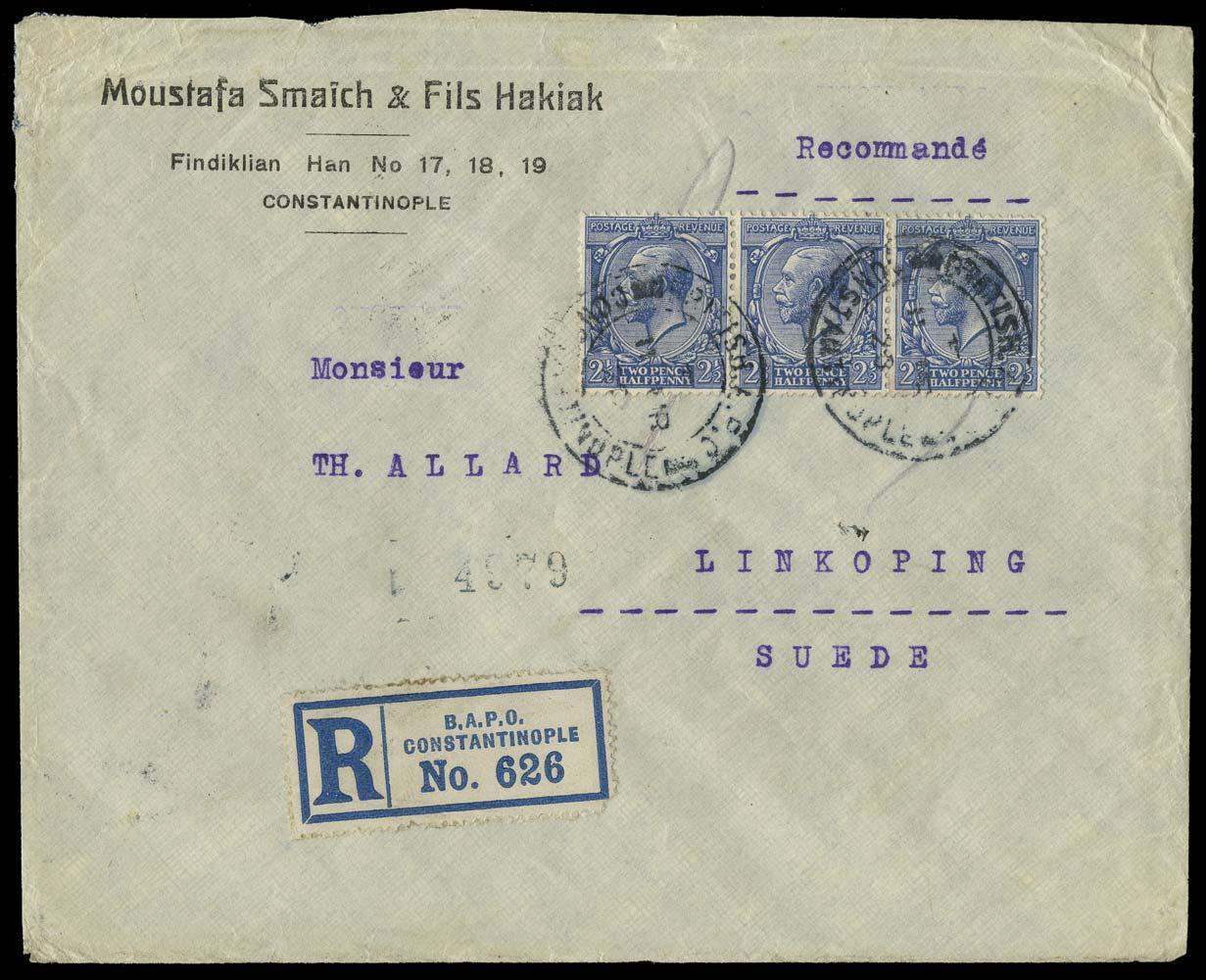 BRITISH LEVANT 1920  SGZ180 Cover