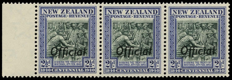 NEW ZEALAND 1940  SGO145/a Official