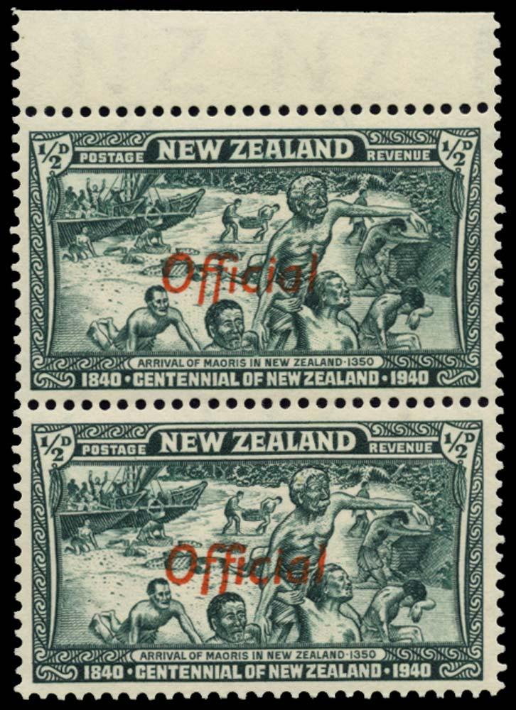 NEW ZEALAND 1940  SGO141/a Official