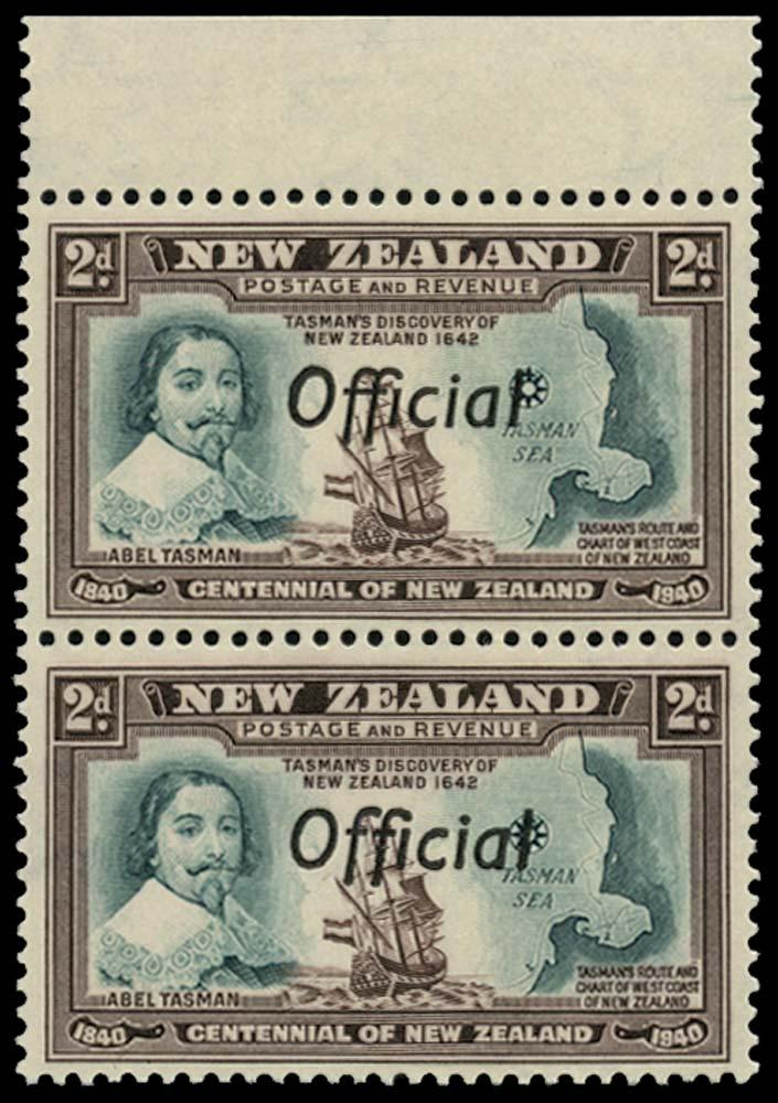 NEW ZEALAND 1940  SGO144/a Official