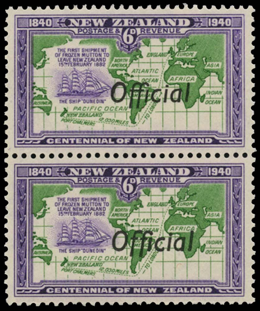 NEW ZEALAND 1940  SGO148/a Official