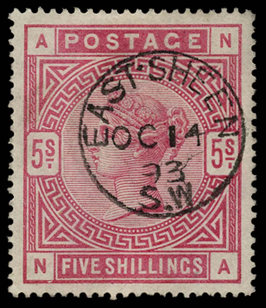 GB 1883  SG180 Used
