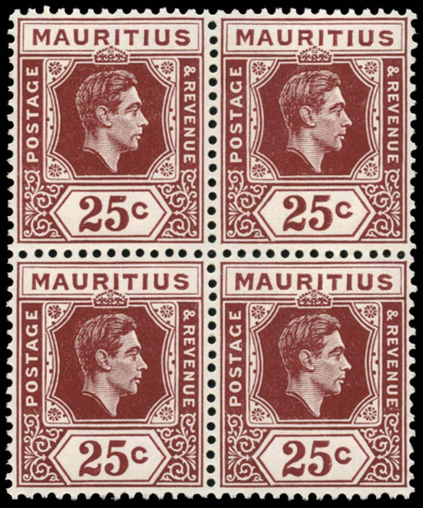 MAURITIUS 1947  SG259 Mint