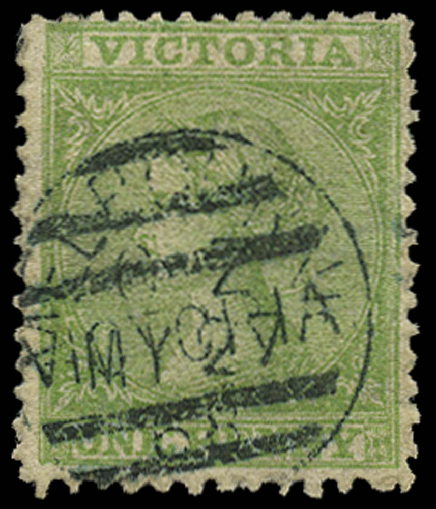 VICTORIA (AUS) 1867  SG154 Cancel
