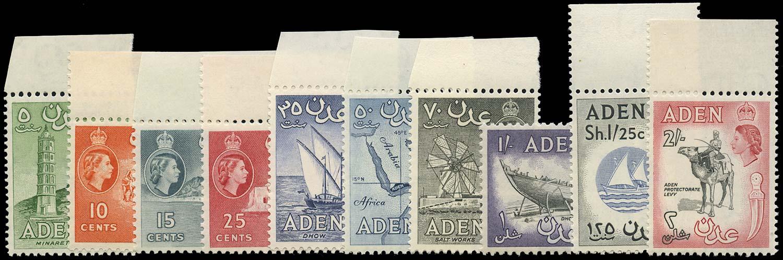 ADEN 1964-5  SG77/86 Mint