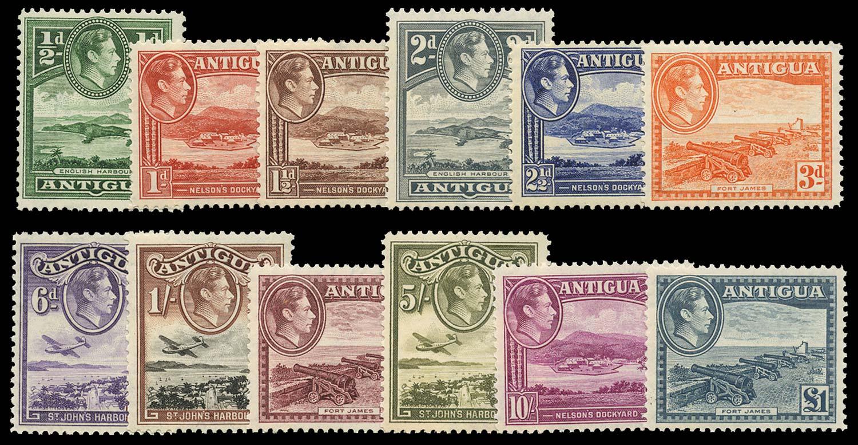 ANTIGUA 1938-48  SG98/109 Mint