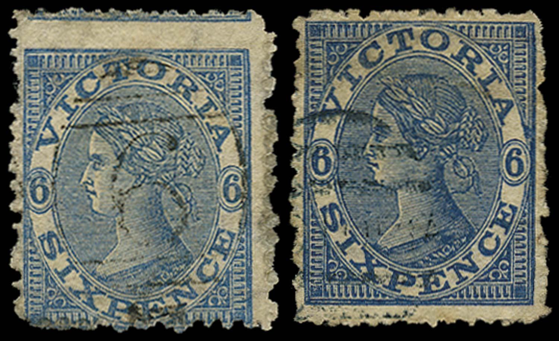 VICTORIA (AUS) 1867  SG164/a Used