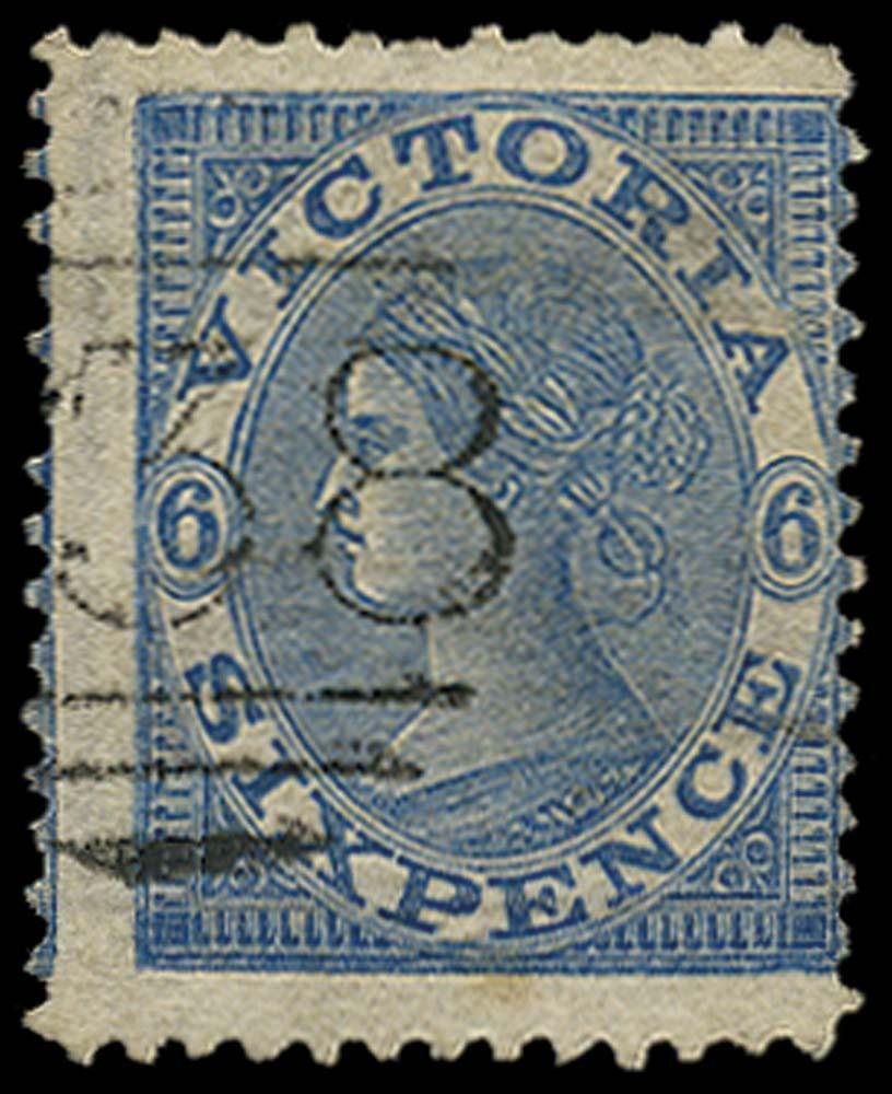 VICTORIA (AUS) 1867  SG166 Used