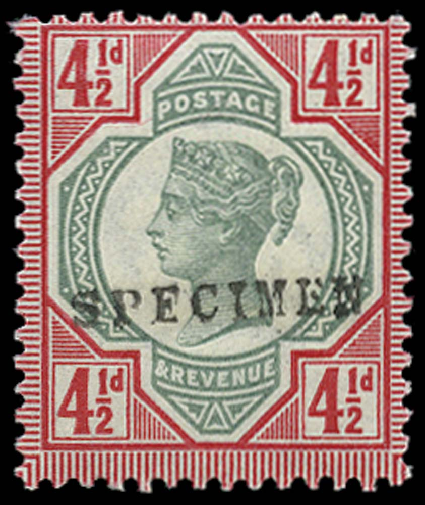 GB 1892  SG206s Specimen - type 9