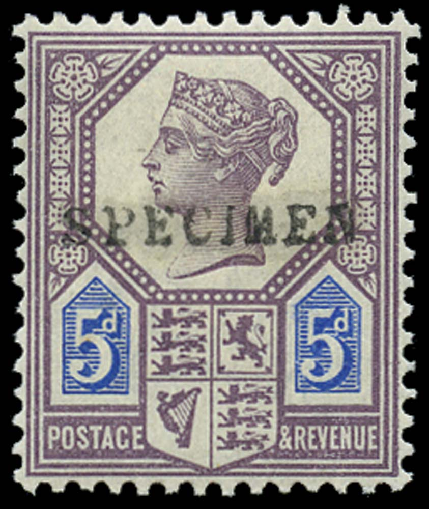 GB 1887  SG207s Specimen - type 9