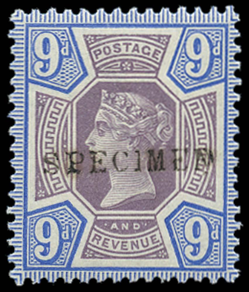 GB 1887  SG209s Specimen - type 9