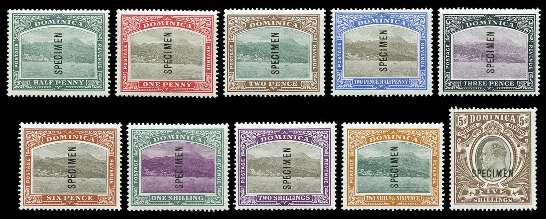 DOMINICA 1903  SG27s/36s Specimen