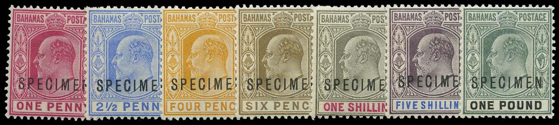 BAHAMAS 1902  SG62s/70s Specimen