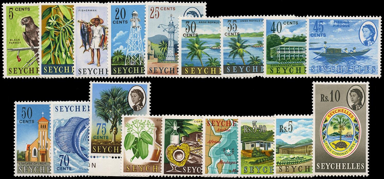SEYCHELLES 1962-8  SG196/212 Mint