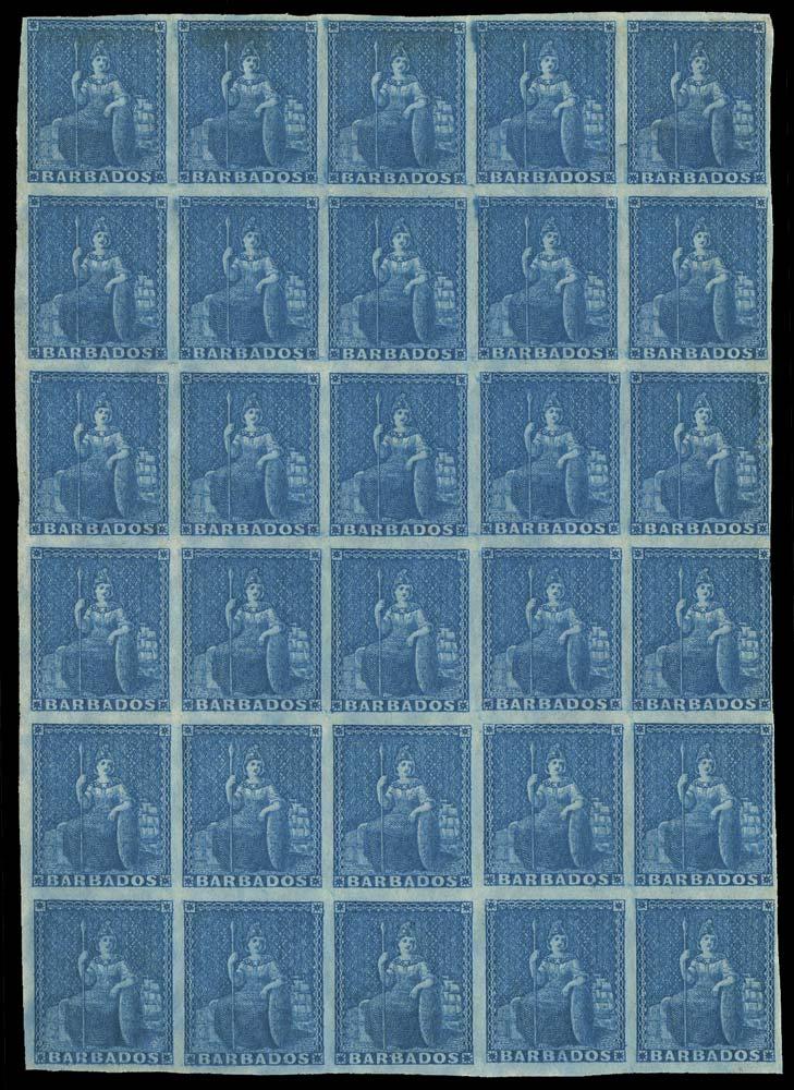 BARBADOS 1852  SG3 Mint