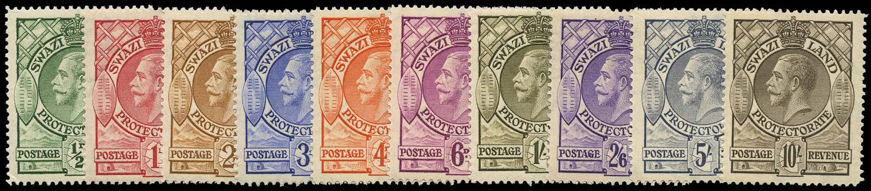 SWAZILAND 1933  SG11/20 Mint