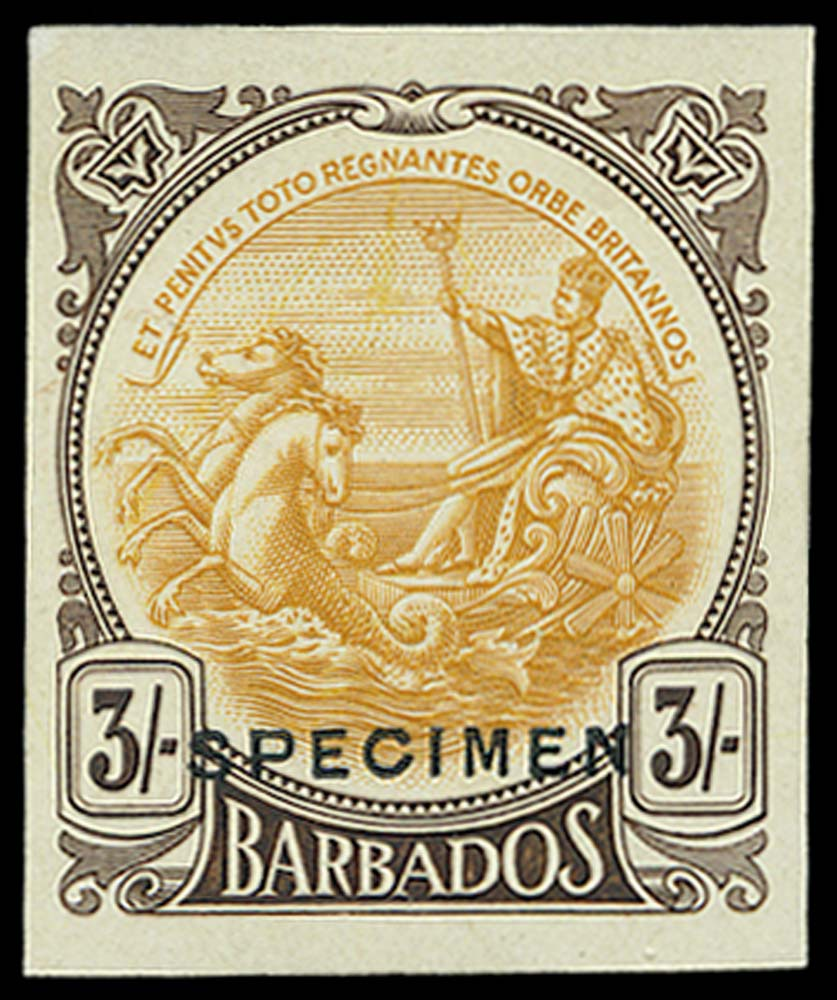 BARBADOS 1922(c)  SG191var Proof