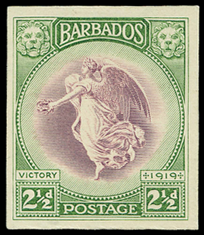 BARBADOS 1922(c)  SG205var Proof