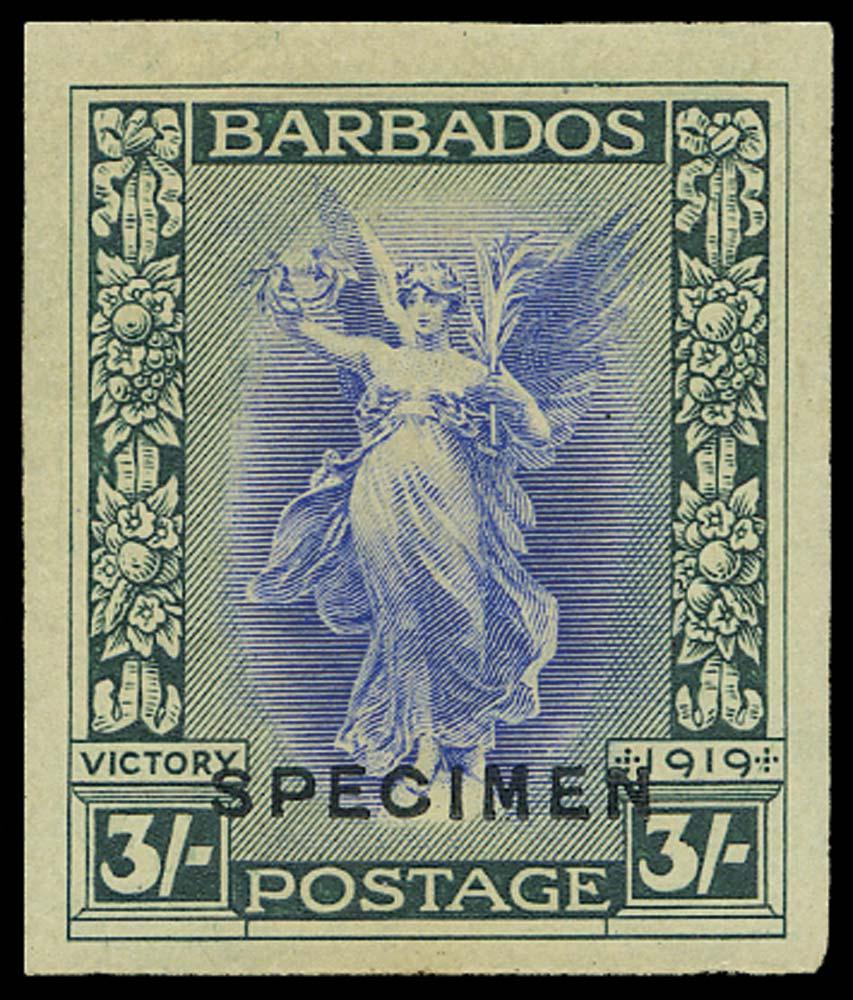 BARBADOS 1922(c)  SG211var Proof