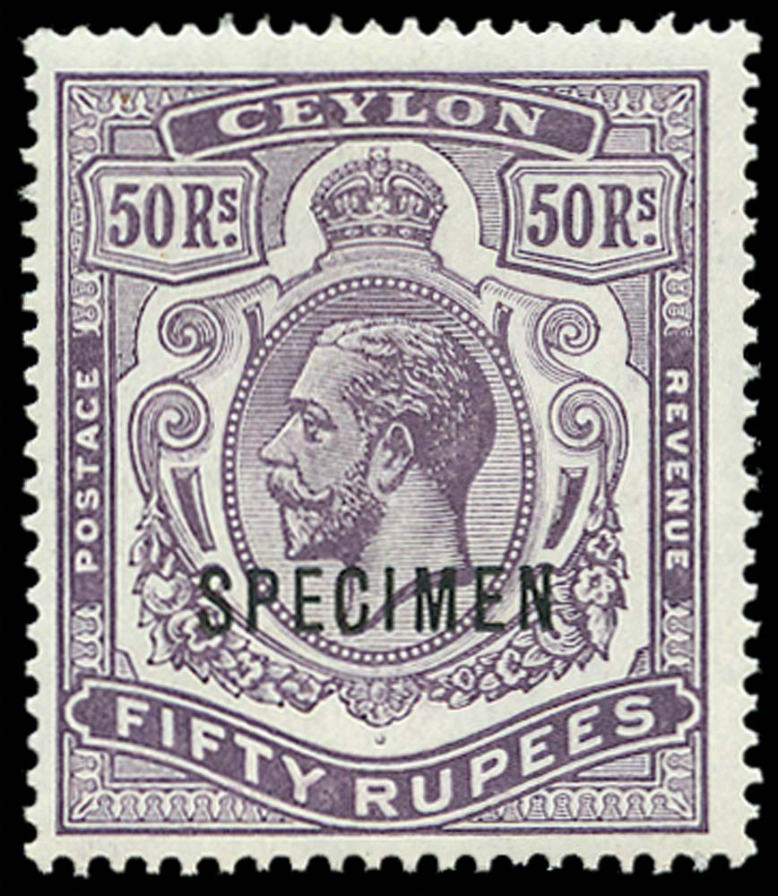 CEYLON 1912  SG320s Specimen