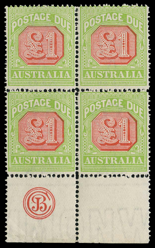 AUSTRALIA 1913  SGD87 Postage Due