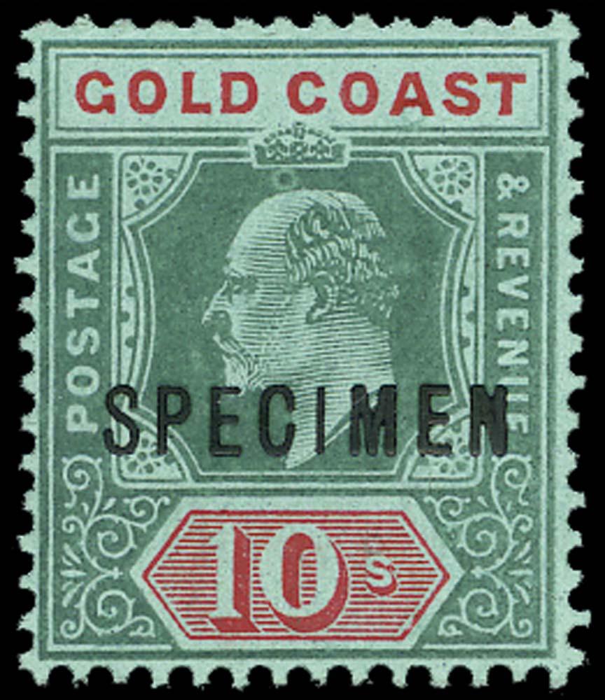 GOLD COAST 1907  SG69s Specimen
