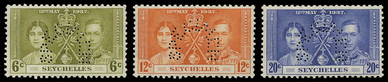 SEYCHELLES 1937  SG132s/4s Specimen