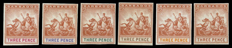 BARBADOS 1892  SG105/15 Proof
