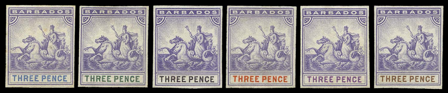 BARBADOS 1892  SG105/15 Proof