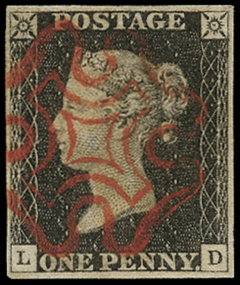 GB 1840  SG3 Pl.2 Penny Black