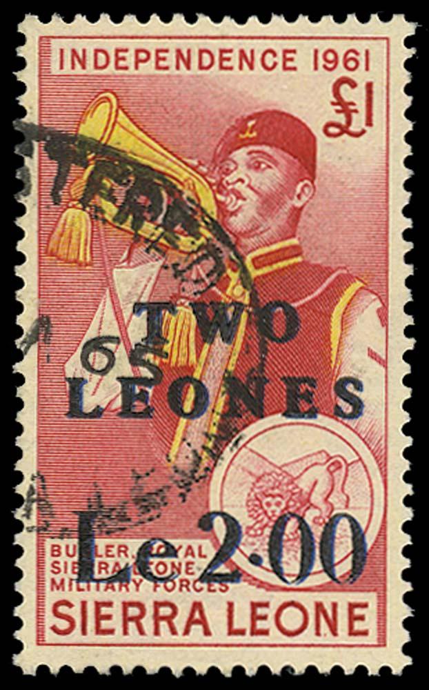 SIERRA LEONE 1965  SG333a Used