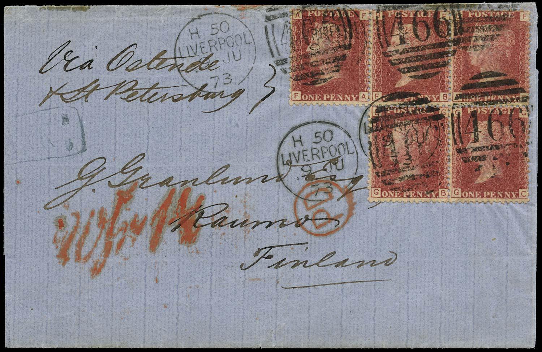GB 1873  SG43 Pl.140 Cover