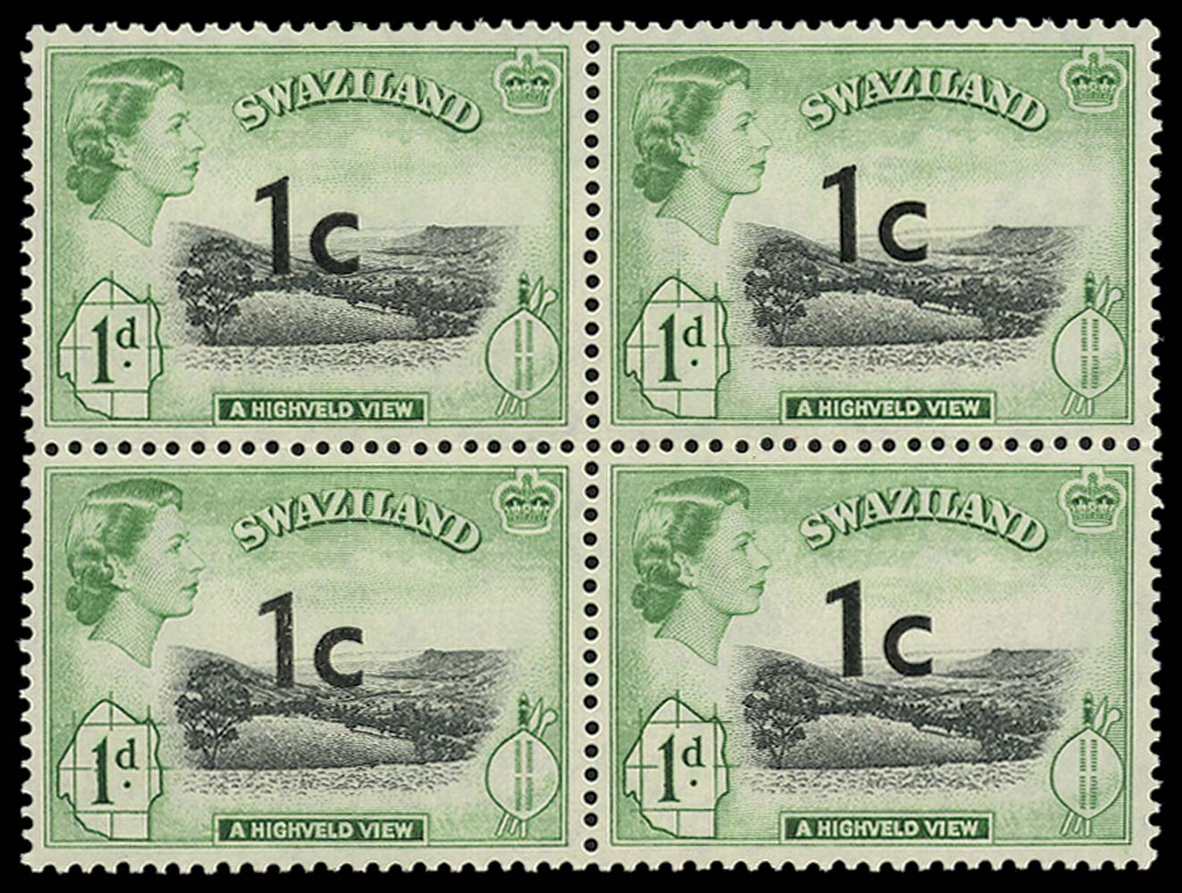 SWAZILAND 1961  SG66 var. Mint